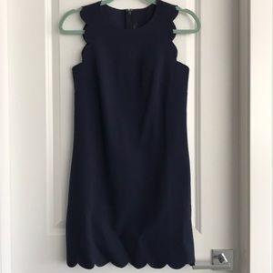 JCrew Scalloped sheath dress